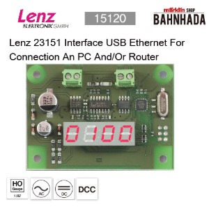 LENZ 15120 Lenz 23151 Interface USB Ethernet For Connection An PC And/Or Router