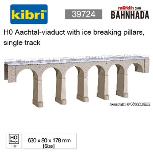 KIBRI 39724 H0 Aachtal-viaduct with ice breaking pillars, single track