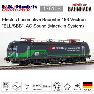 LSmodels 17610S Electric Locomotive Baureihe 193 Vectron BR193 MRCE, AC Sound (Maerklin System)