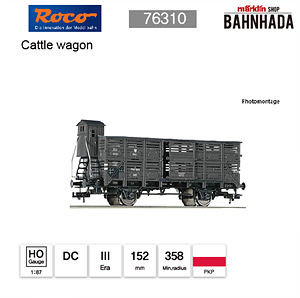ROCO HO 76310 Cattle wagon DC