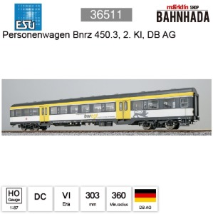 ESU HO 36511 n-car number 450.3 of the DB AG, epoch VI