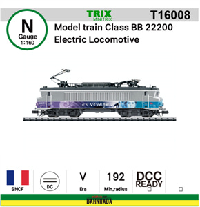 minitrix N T16008 Model train Class BB 22200 Electric Locomotive DCC Ready