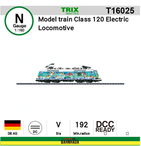 minitrix N T16025 Model train Class 120 Electric Locomotive DCC Ready