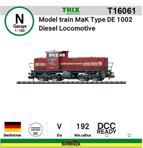 minitrix N T16061 Model train MaK Type DE 1002 Diesel Locomotive DCC Ready