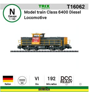 minitrix N T16062 Model train Class 6400 Diesel Locomotive DCC Ready